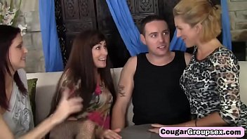 three blowjob party Sister plays with brothers foreskin