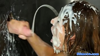 shemale cum comp gloryhole Tasha reign close up cream pie after a fuck7
