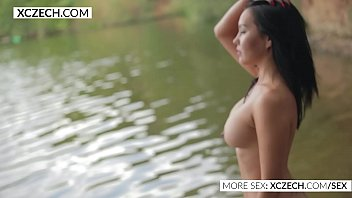 right watch breasts smile back at beautiful you her 2 gorgeous men fuck