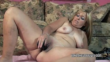 fucks hairy pussy to stunning mommy her pleasure toy Spit vomit puke gagging crying