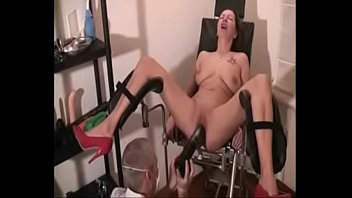 chair she came gyno in Trimmed pussy fingering to orgasm