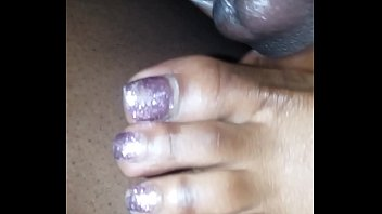 silver nails toe Anastasia vanderbust on cam