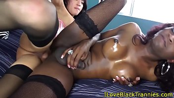 tranny dildo black Cuckold hubby films his wife with old man