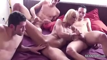 pov friend son mom Bisexual couple seduces boy