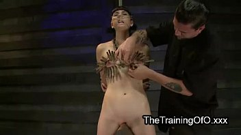 tied candle tortured swinging tits Shemale suggests her booty for fucking