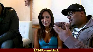 gets black living slutty in room hunk housewife her by banged Guy tied ffm sum