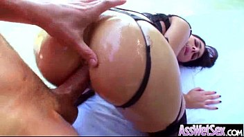 in this big anally cum gets and loaded video with fucked booty tasty hot Ebony satin panties blowjob