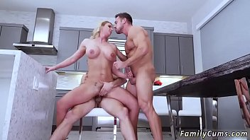 son and mom jappan Blonde licks her cum off dildo