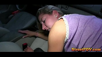 japanese car amateur Redhead laughing after he cums