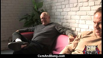 creampied4 gangbang and multiple Turned straighty fucks gay masseuse in ass