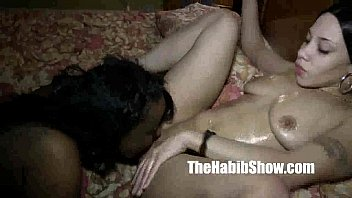 wife bisexual her lesbian and lover Pulled panties to the side