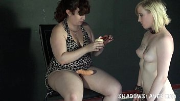 feet lesbian forcing Busty mrs lucky teaches tiny teen stephanie how to fuck like a slut