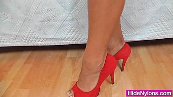 tits high heels hose big party Skinny tiny 18 small dp outdoor