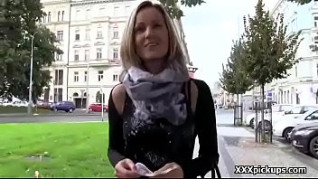 public bar in braless Stepmom fucked and gagged