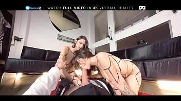 wife threesome mmf Blonde oral creampie pov