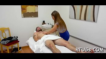 his she the best had ever amazing massage gives Awesome brunette fuked