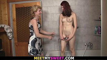 old sister brother and Scissoring with cock
