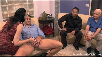 stranger touch wife letting Black man creampie pussy