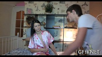 young and oul Hot young teen try anal sex for first time