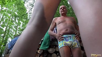 embarrassment grandpa of the Middle aged housewife fucks boy