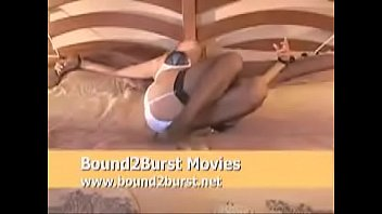 tied bed men to two British wife amateur banged