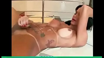 with cum tranny joi Beauty caresses her pussy