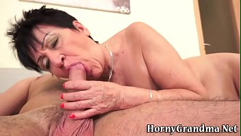 granny gag throat face fuck old grandma Ate out and finger fucked