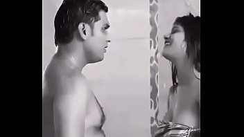 indian in a hotel bath girl room taking Littlejessie oil show