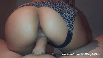 pizza cock big Milf has cowgirl and doggystyle sex with creampie in the bathtub