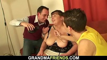 bouncing on anal granny cock riding Stranger large huge cock